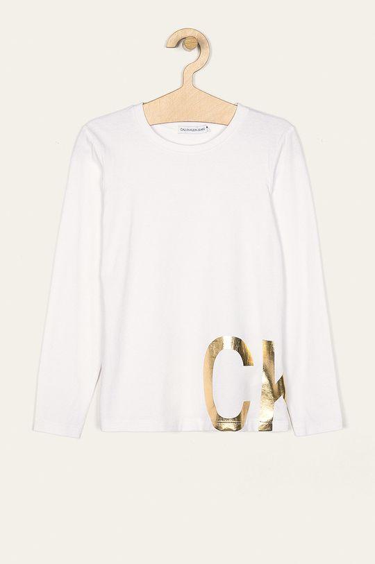 biela Calvin Klein Jeans - Detské tričko s dlhým rukávom 116-176 cm Dievčenský