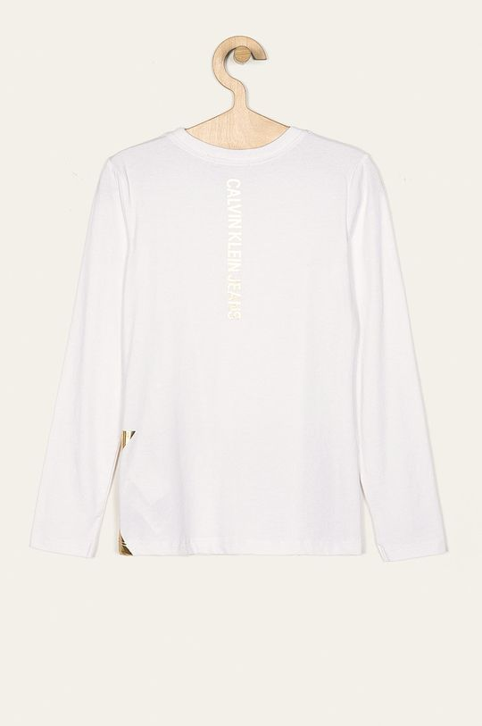 Calvin Klein Jeans - Detské tričko s dlhým rukávom 116-176 cm biela