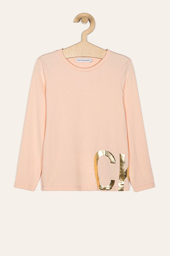 pastelová ružová Calvin Klein Jeans - Detské tričko s dlhým rukávom 116-176 cm Dievčenský