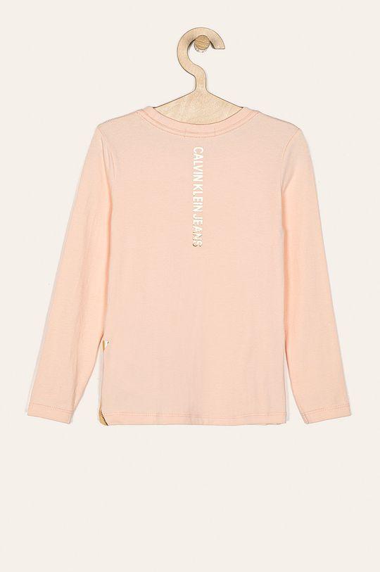 Calvin Klein Jeans - Detské tričko s dlhým rukávom 116-176 cm pastelová ružová