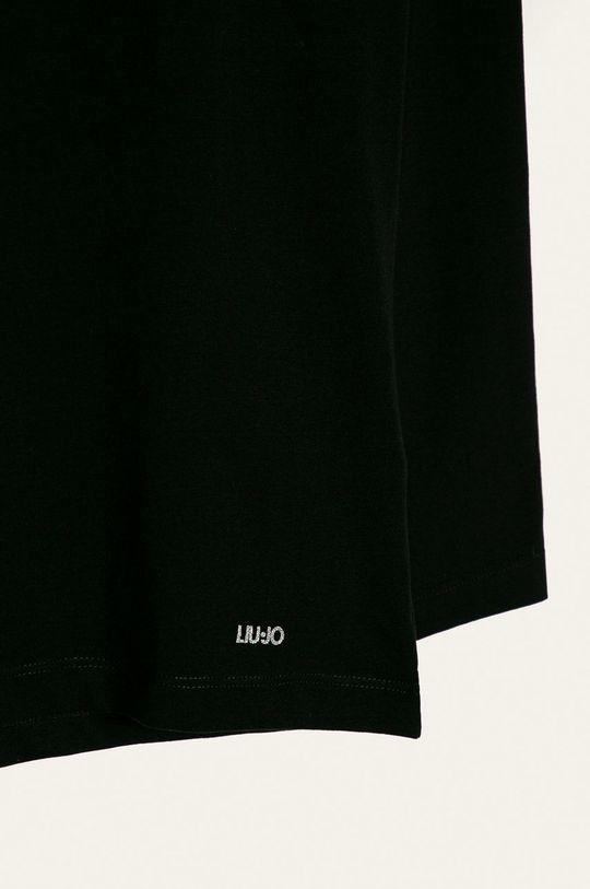 Liu Jo - Detské tričko s dlhým rukávom 128-170 cm čierna
