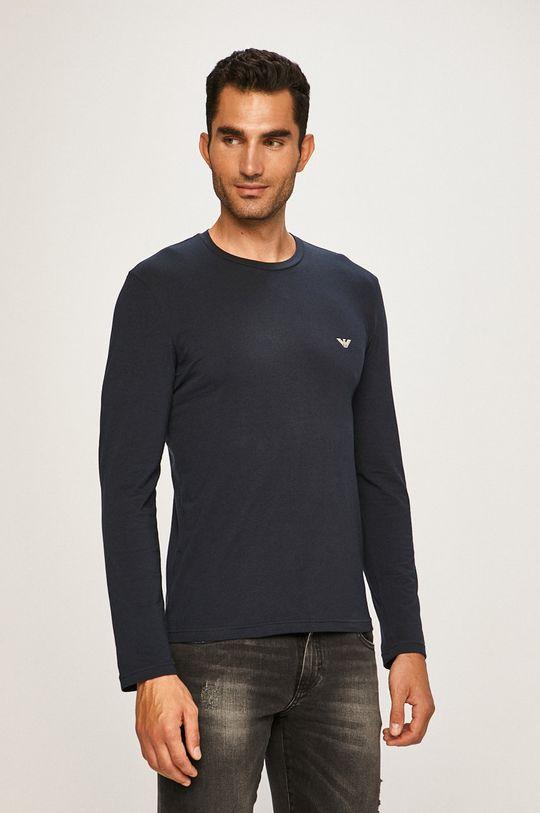 tmavomodrá Emporio Armani - Pánske tričko s dlhým rúkavom Pánsky