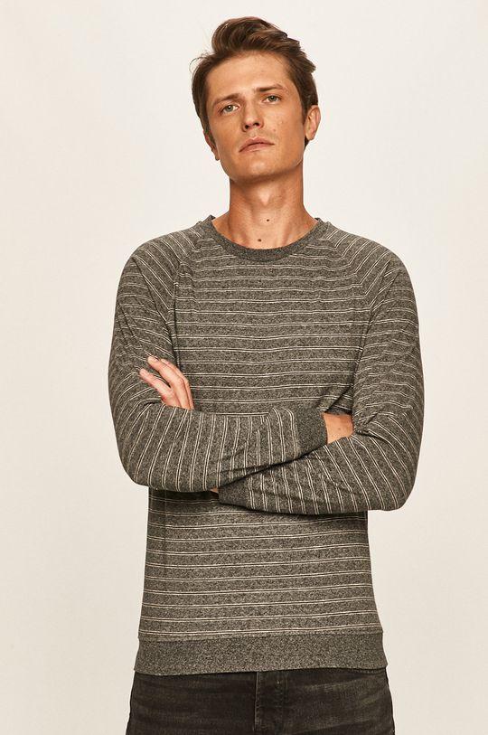sivá s. Oliver - Pánske tričko s dlhým rukávom Pánsky
