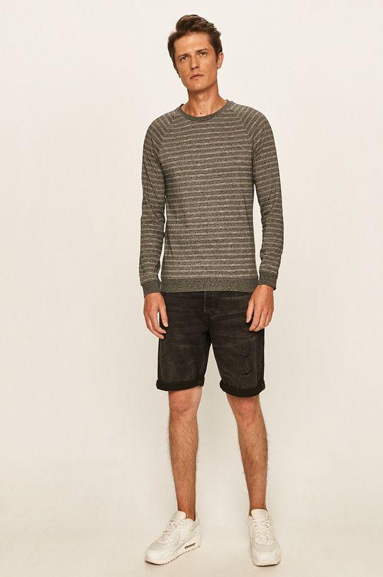 s. Oliver - Pánske tričko s dlhým rukávom sivá