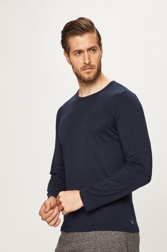 tmavomodrá s. Oliver - Pánske tričko s dlhým rúkavom Pánsky