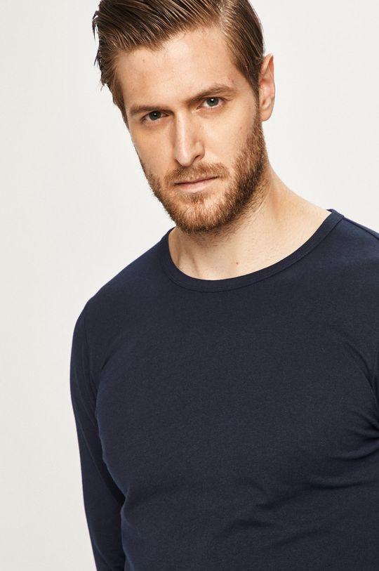 tmavomodrá s. Oliver - Pánske tričko s dlhým rúkavom