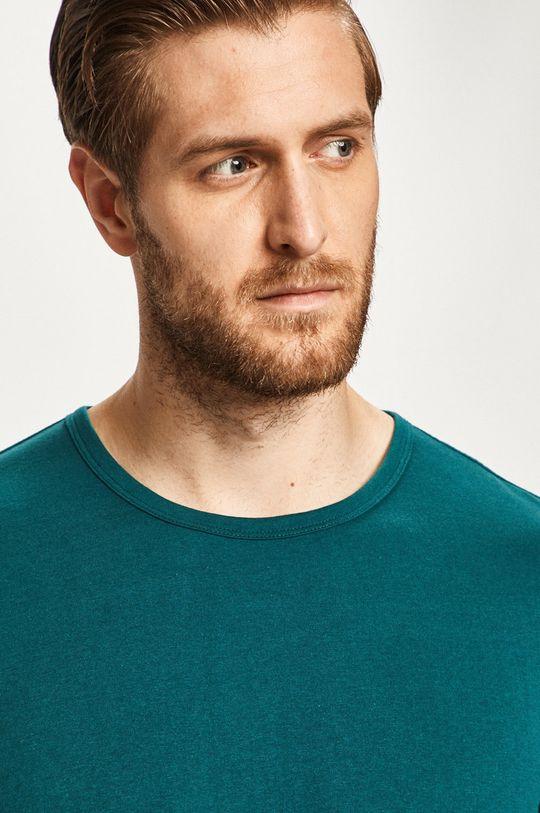 tyrkysová modrá s. Oliver - Pánske tričko s dlhým rukávom