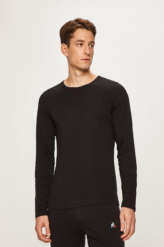 čierna s. Oliver - Pánske tričko s dlhým rukávom Pánsky