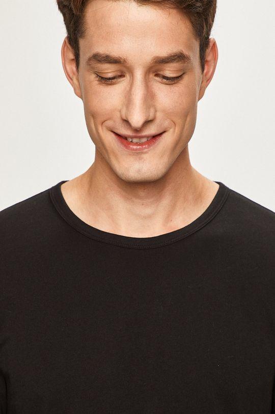 čierna s. Oliver - Pánske tričko s dlhým rukávom