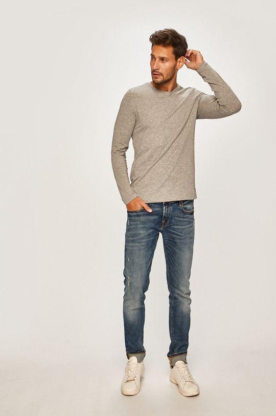 Pierre Cardin - Tričko s dlouhým rukávem světle šedá