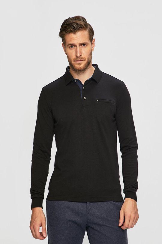 černá Pierre Cardin - Tričko s dlouhým rukávem Pánský