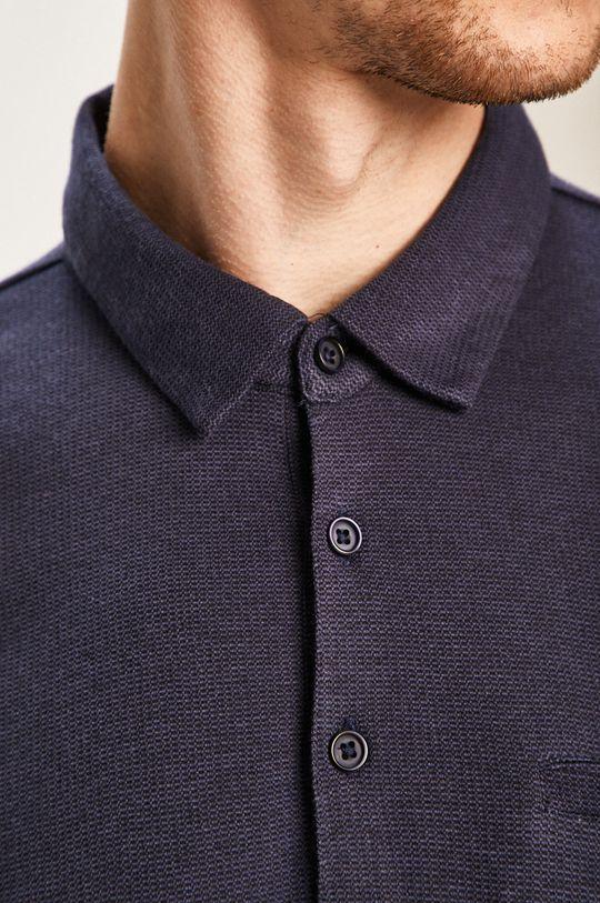 Pierre Cardin - Tričko s dlouhým rukávem námořnická modř