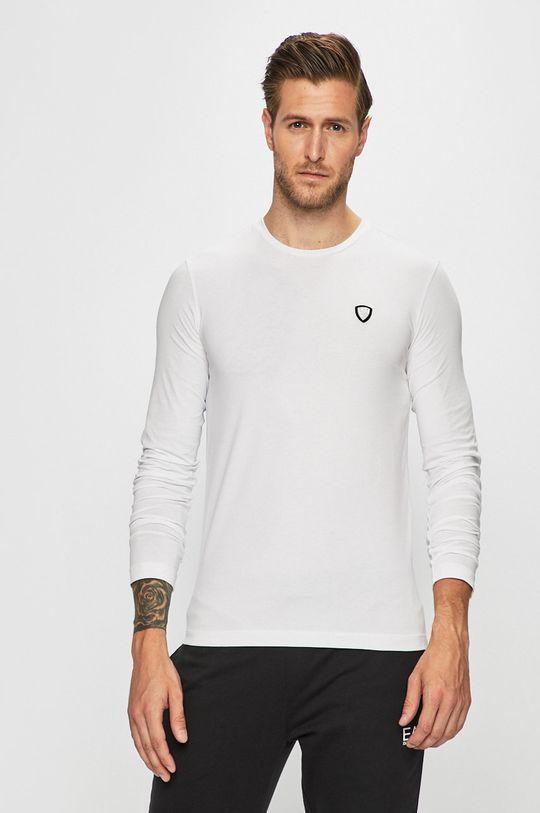 bílá EA7 Emporio Armani - Tričko s dlouhým rukávem Pánský