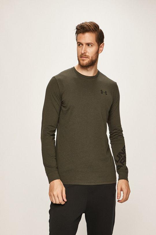 vojenská zelená Under Armour - Pánske tričko s dlhým rukávom Pánsky