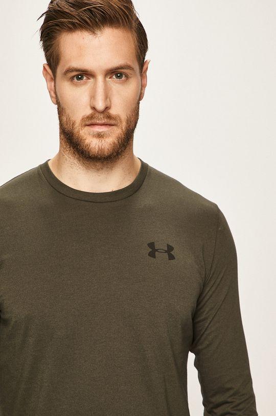vojenská zelená Under Armour - Pánske tričko s dlhým rukávom