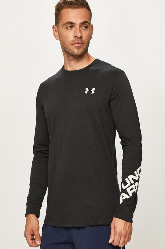 čierna Under Armour - Pánske tričko s dlhým rúkavom Pánsky