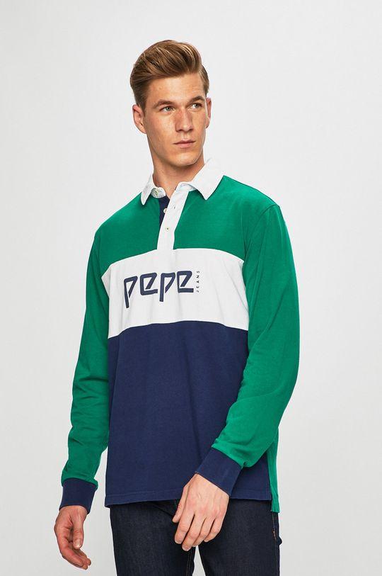 námořnická modř Pepe Jeans - Tričko s dlouhým rukávem Pánský