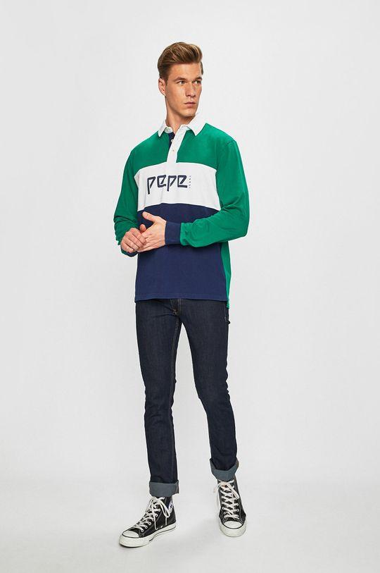Pepe Jeans - Tričko s dlouhým rukávem námořnická modř