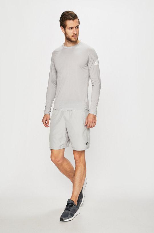 adidas Performance - Tričko s dlouhým rukávem světle šedá