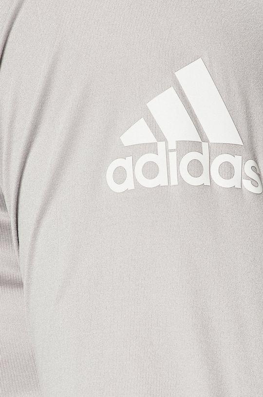 světle šedá adidas Performance - Tričko s dlouhým rukávem