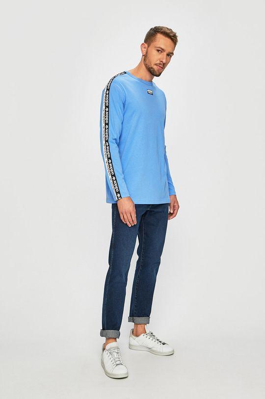 modrá adidas Originals - Tričko s dlouhým rukávem Pánský