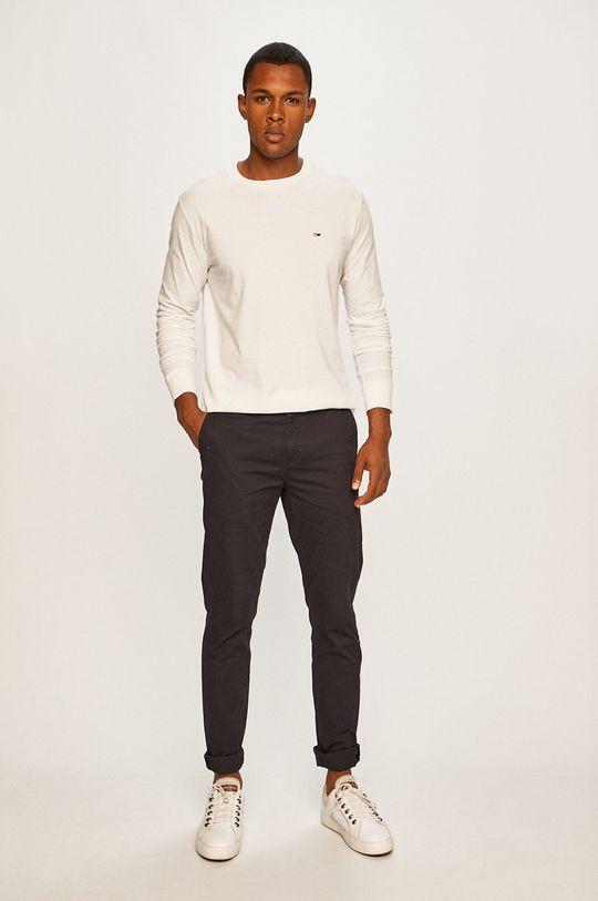 Tommy Jeans - Longsleeve alb