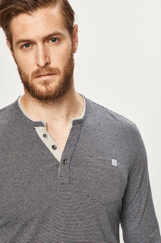 sivá Tom Tailor Denim - Pánske tričko s dlhým rukávom Pánsky
