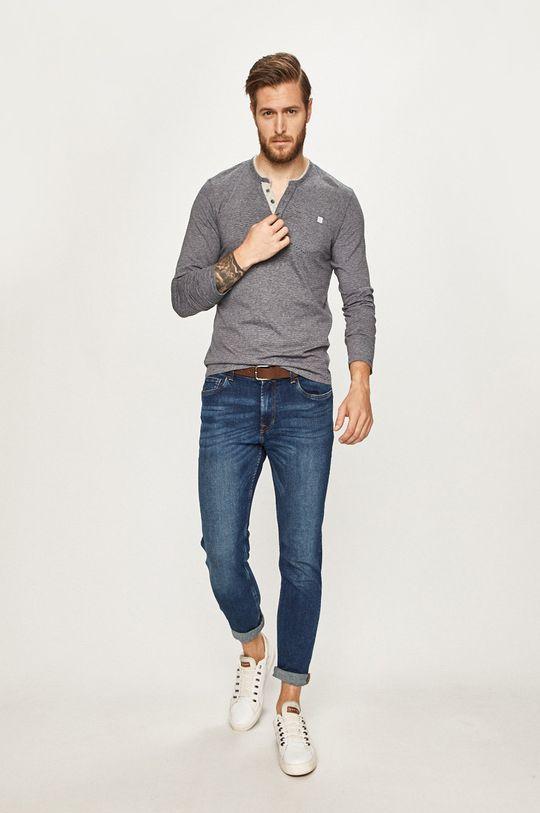 Tom Tailor Denim - Pánske tričko s dlhým rukávom sivá