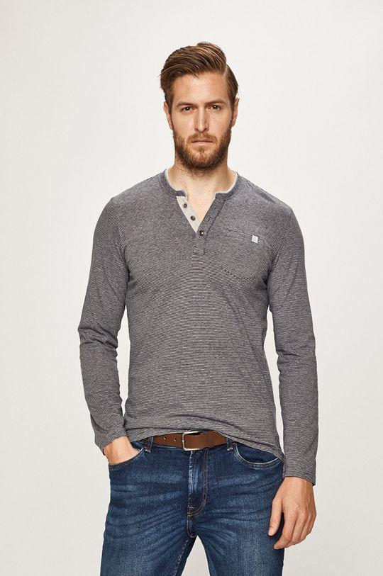 sivá Tom Tailor Denim - Pánske tričko s dlhým rukávom