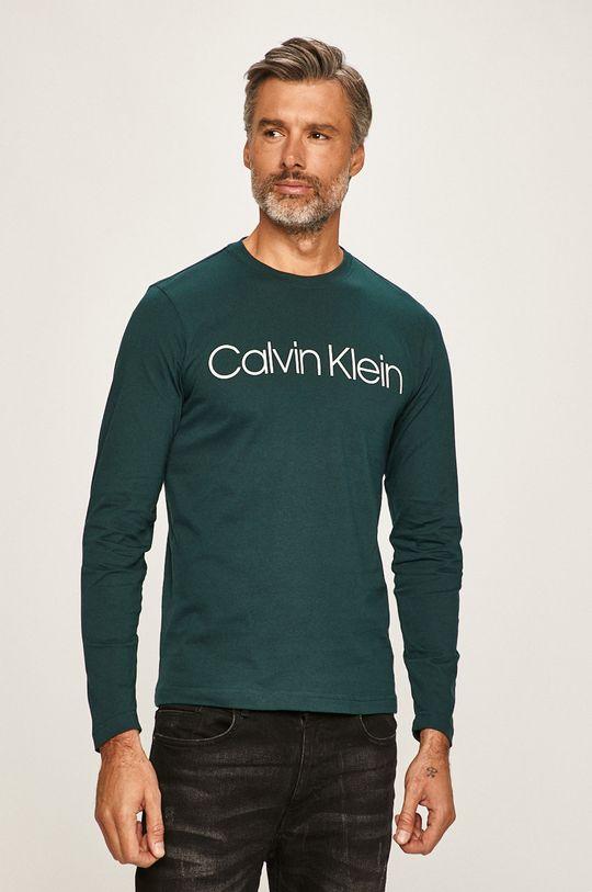 zelená Calvin Klein - Tričko s dlouhým rukávem Pánský