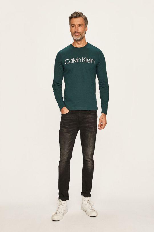 Calvin Klein - Tričko s dlouhým rukávem zelená