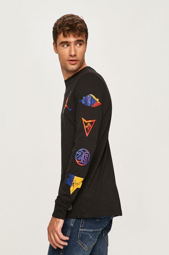 čierna Jordan - Pánske tričko s dlhým rúkavom Pánsky