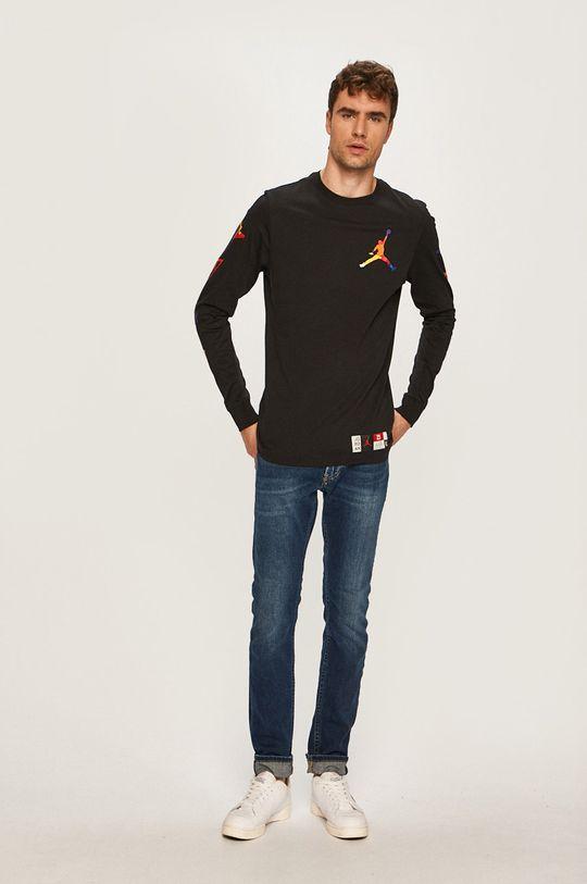 Jordan - Pánske tričko s dlhým rúkavom čierna