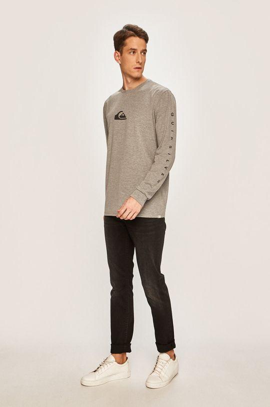 Quiksilver - Pánske tričko s dlhým rúkavom sivá