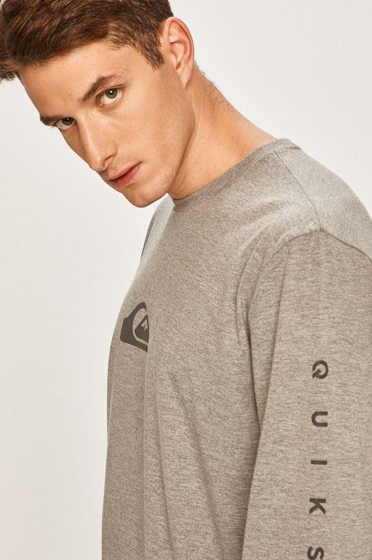 sivá Quiksilver - Pánske tričko s dlhým rúkavom