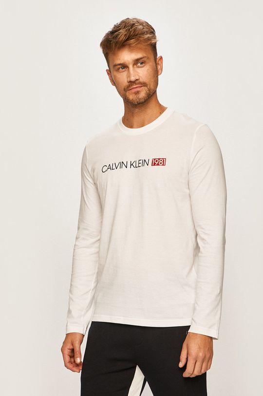 biela Calvin Klein Underwear - Pánske tričko s dlhým rúkavom Pánsky