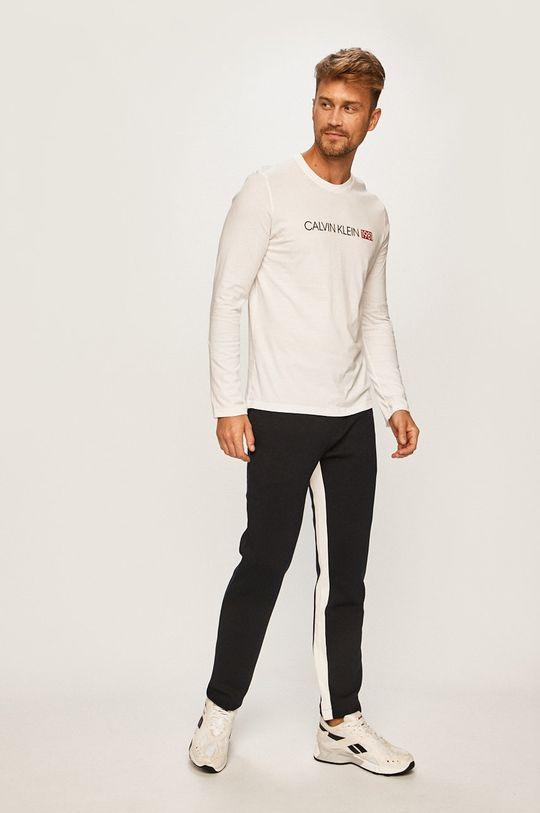 Calvin Klein Underwear - Pánske tričko s dlhým rúkavom biela