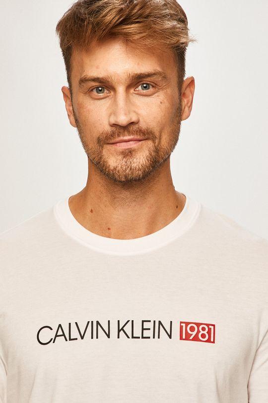 biela Calvin Klein Underwear - Pánske tričko s dlhým rúkavom