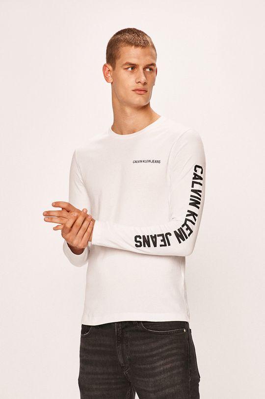 alb Calvin Klein Jeans - Longsleeve De bărbați