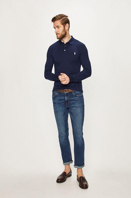Polo Ralph Lauren - Pánske tričko s dlhým rúkavom tmavomodrá