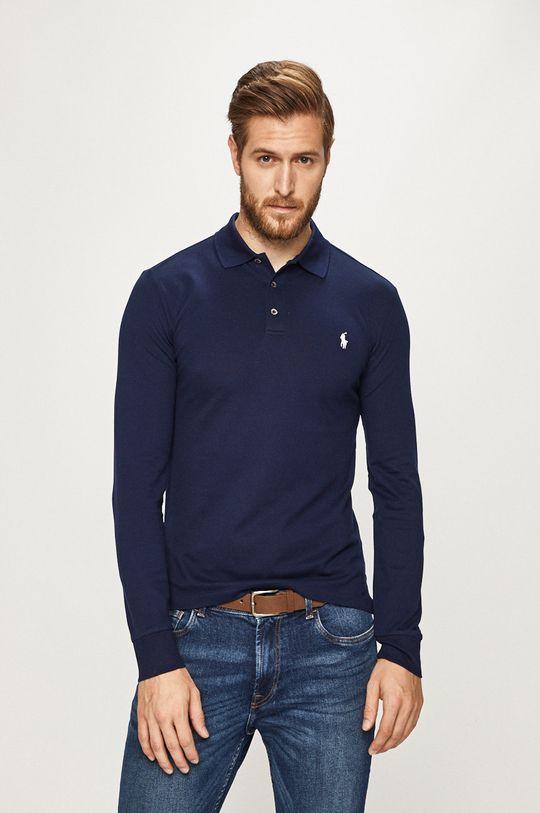 tmavomodrá Polo Ralph Lauren - Pánske tričko s dlhým rúkavom