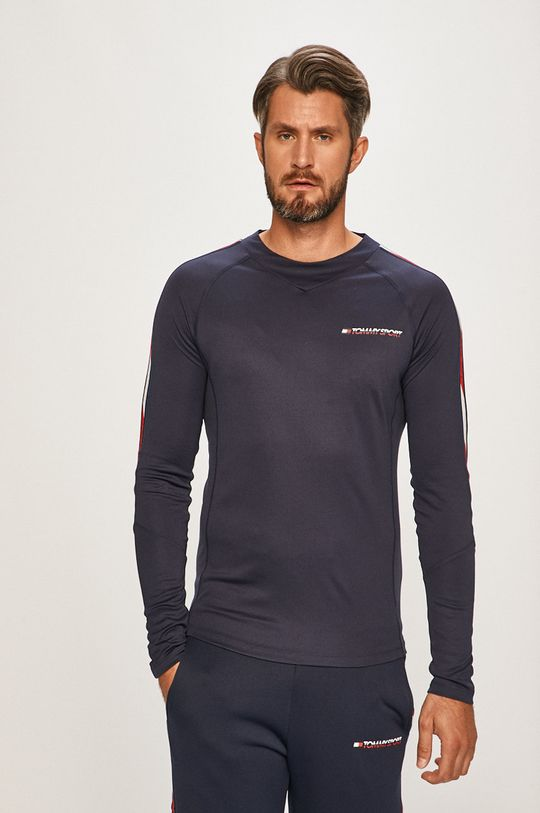 tmavomodrá Tommy Sport - Pánske tričko s dlhým rúkavom Pánsky