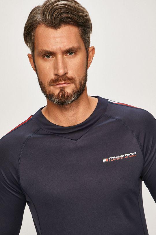 tmavomodrá Tommy Sport - Pánske tričko s dlhým rúkavom