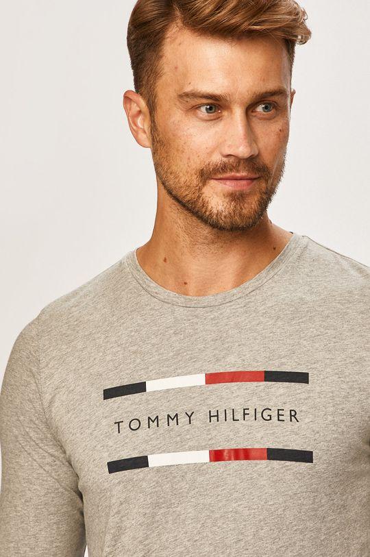 svetlosivá Tommy Hilfiger - Pánske tričko s dlhým rúkavom
