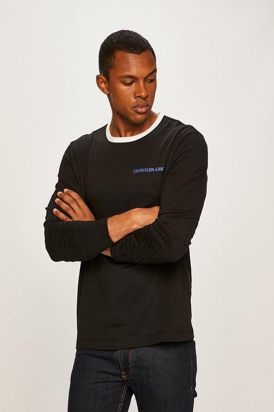 negru Calvin Klein Jeans - Longsleeve De bărbați