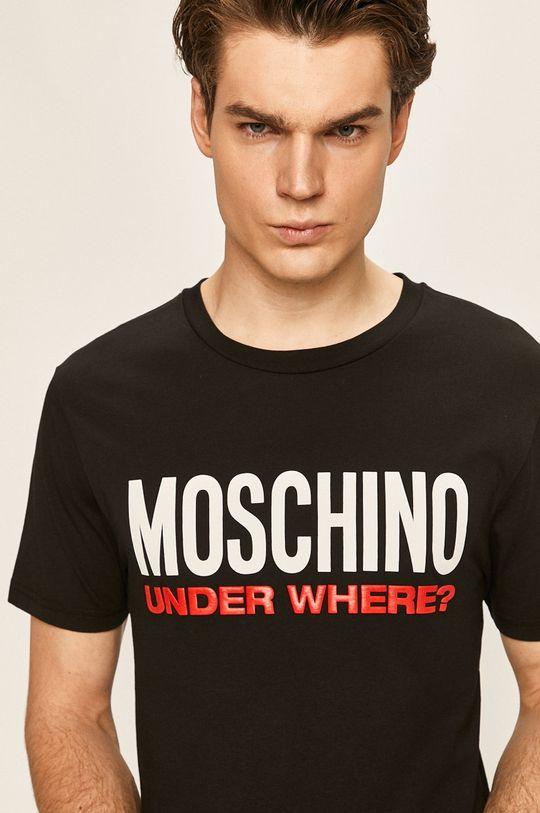 černá Moschino Underwear - Pyžamové tričko Pánský