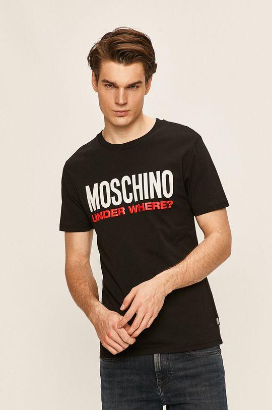 Moschino Underwear - Pyžamové tričko černá