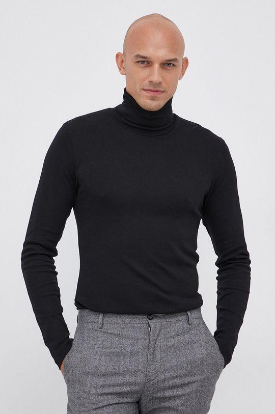 czarny Marc O'Polo - Longsleeve bawełniany Męski
