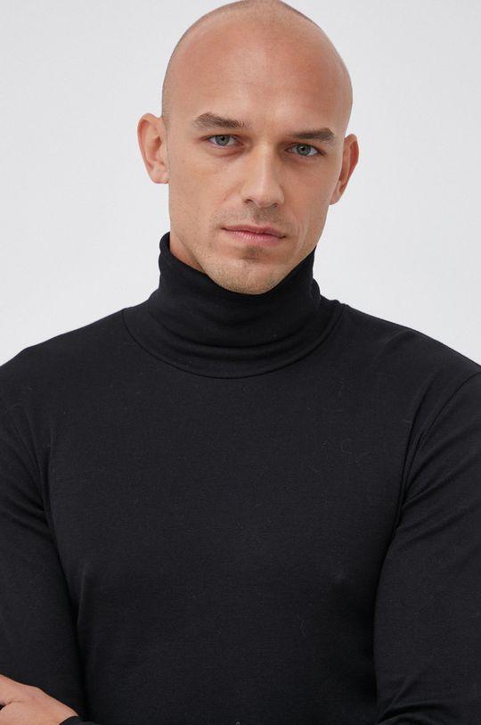 czarny Marc O'Polo - Longsleeve bawełniany