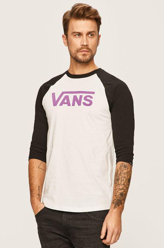 biela Vans - Pánske tričko s dlhým rúkavom Pánsky